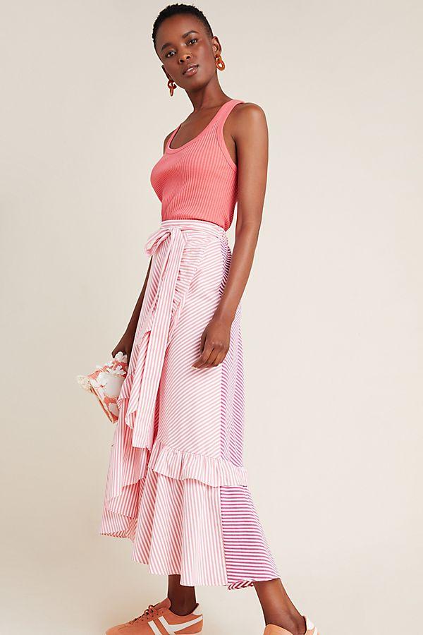 Slide View: 1: Penny Ruffled Midi Skirt