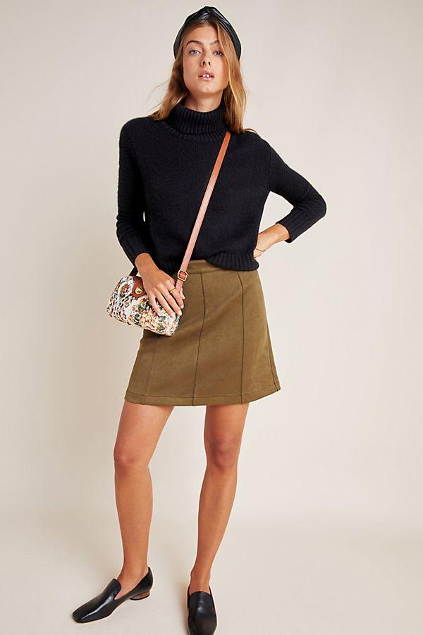 Slide View: 1: Jenny Seamed Mini Skirt