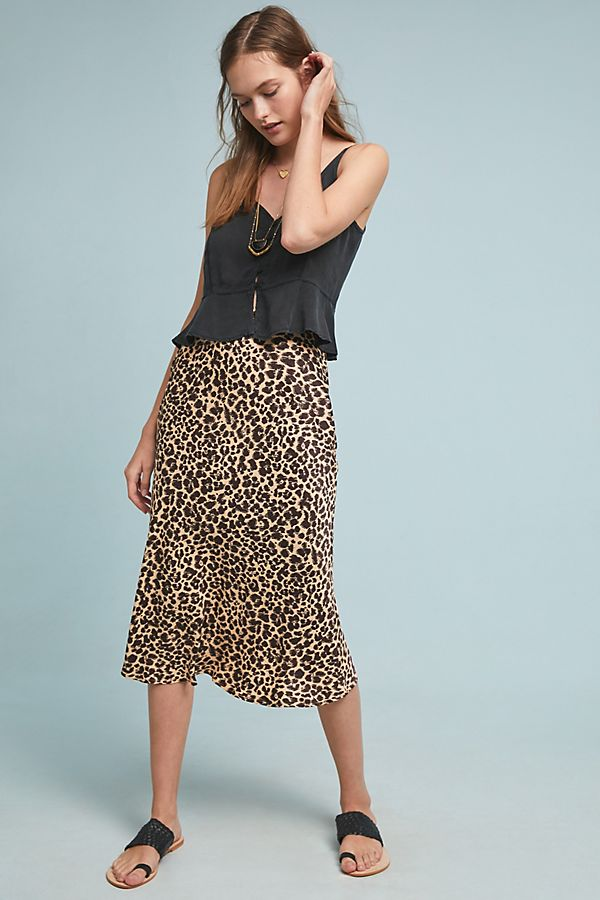 c7b02afb0 Bias Satin Midi Skirt | Anthropologie