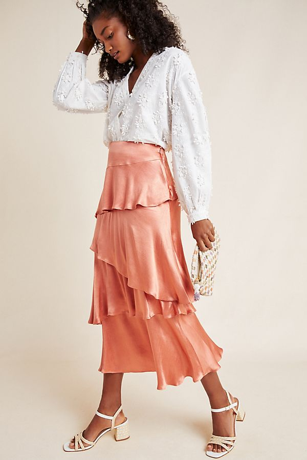 Slide View: 1: Cassia Tiered Maxi Skirt