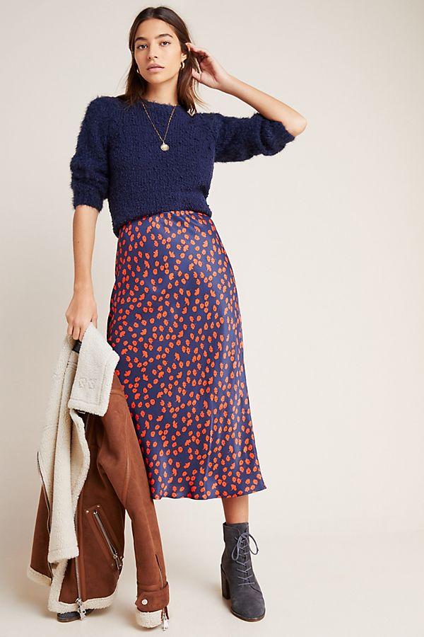 Slide View: 1: Evelyn Bias Midi Skirt