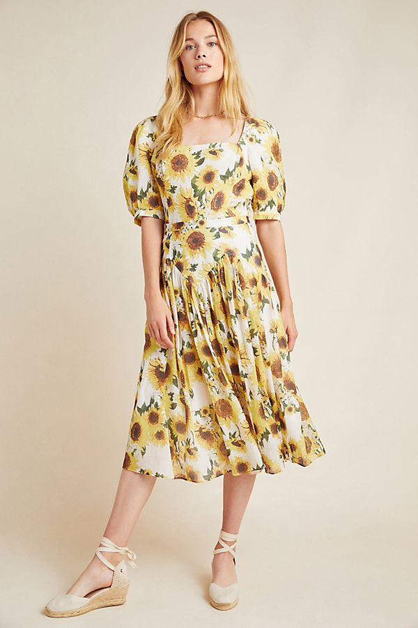 Slide View: 1: Tracy Reese Sunflower Midi Skirt