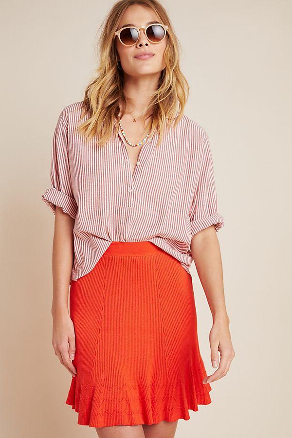 Slide View: 1: Jovie Ribbed Sweater Mini Skirt