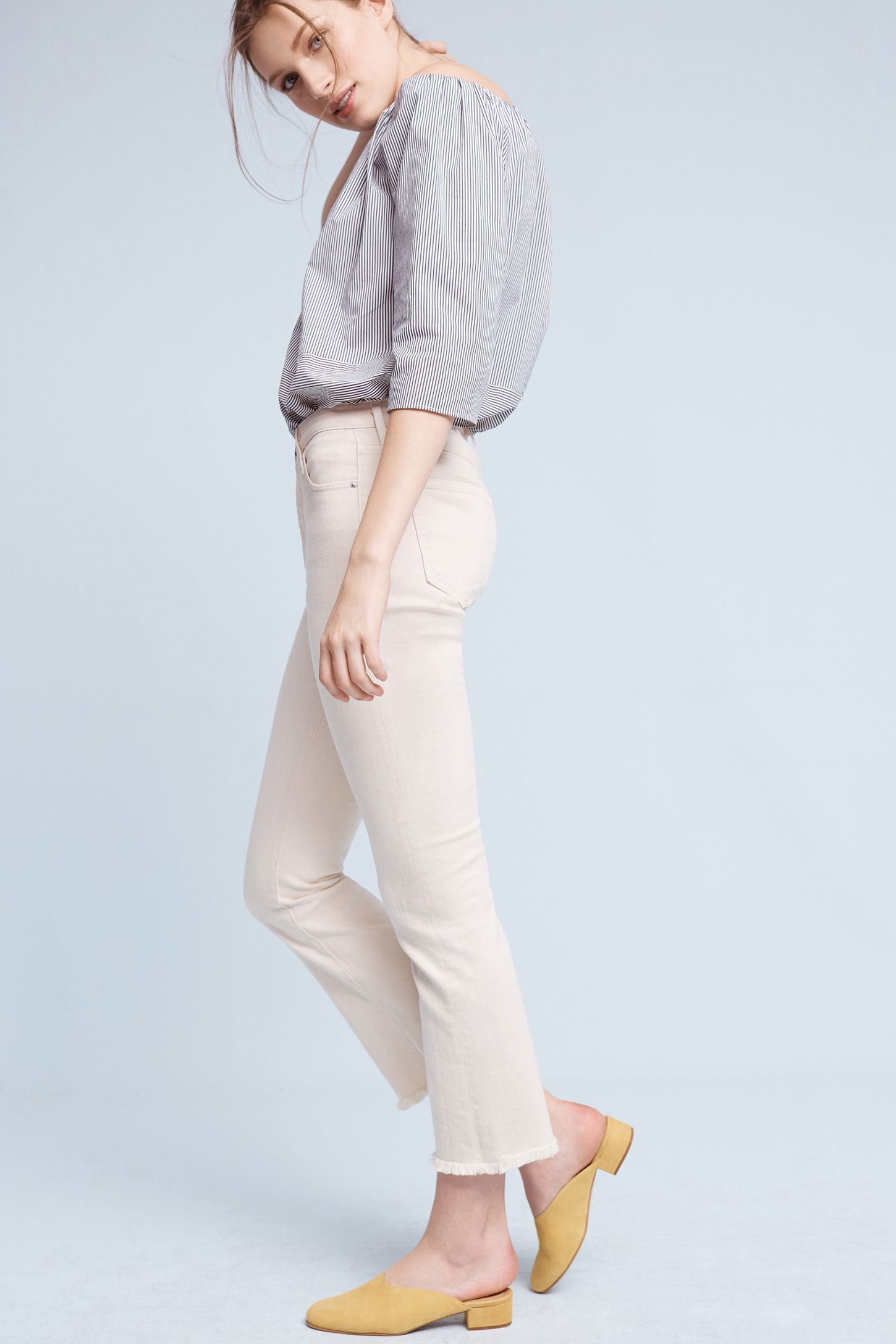92664430c13 AG The Jodi High-Rise Cropped Flare Jeans   Anthropologie