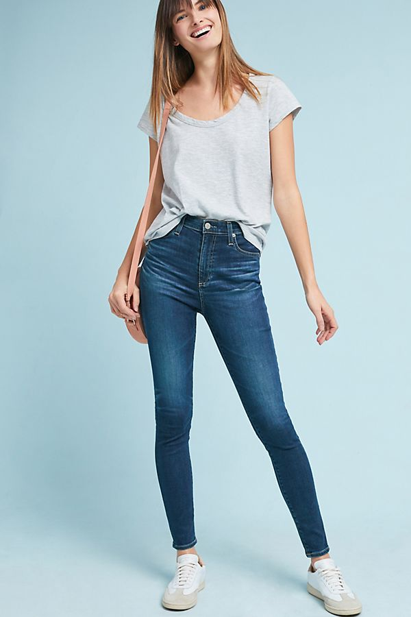 28ead478308e36 AG The Mila Ultra High-Rise Skinny Jeans | Anthropologie