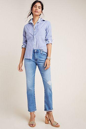 de0fc6edbb8 AG The Nolan Mid-Rise Slim Boyfriend Jeans