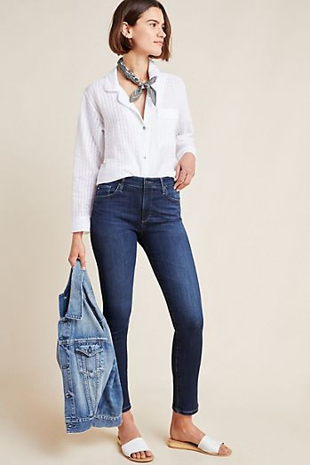 23c49643359a AG The Stevie High-Rise Skinny Ankle Jeans