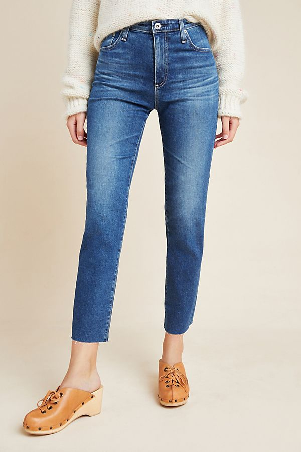 Slide View: 3: AG The Isabelle High-Rise Straight Cropped Jeans
