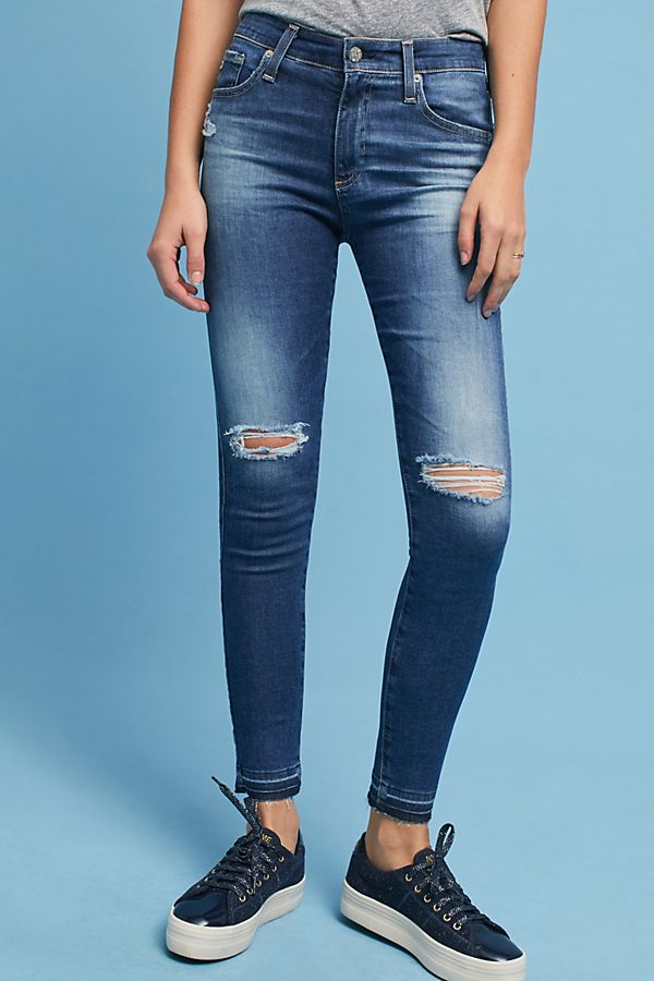 59a92ad62091 AG The Farrah High-Rise Skinny Ankle Jeans