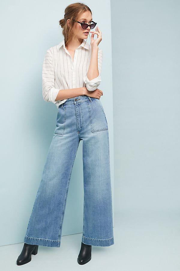 c22b0ad8a18a Frye Nadia High-Rise Wide-Leg Jeans