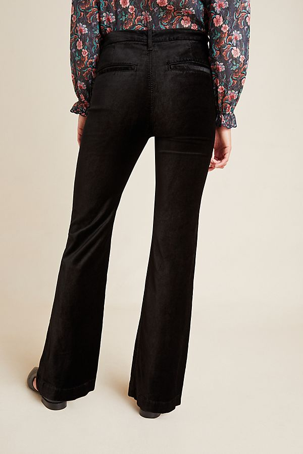 hot products los angeles hot product Jen7 by 7 For All Mankind High-Rise Bootcut Velvet Pants