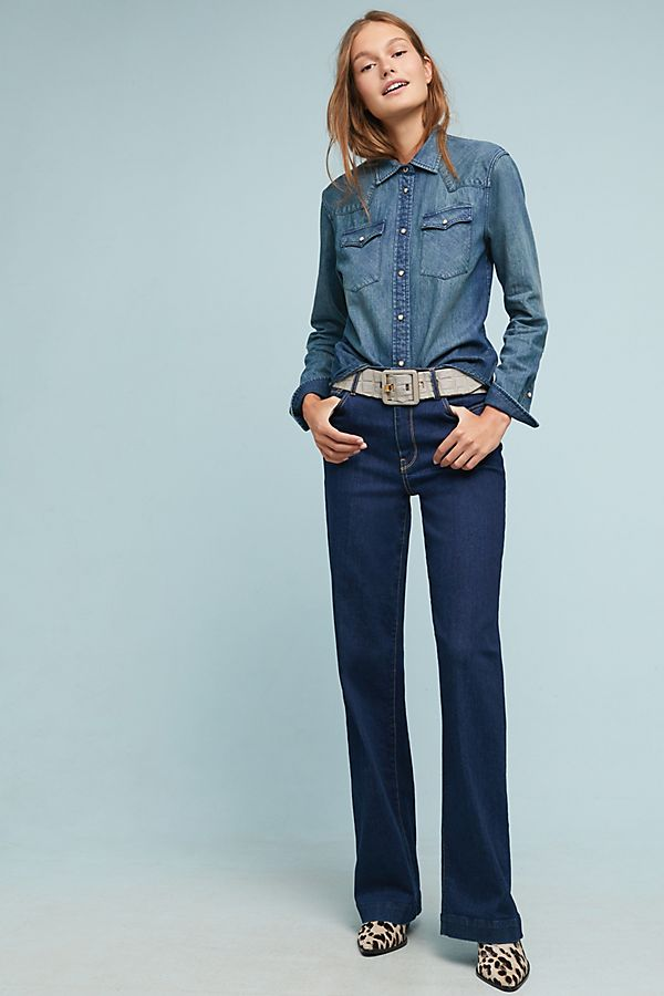 c28518f7dabb 7 For All Mankind Alexa High-Rise Wide-Leg Jeans