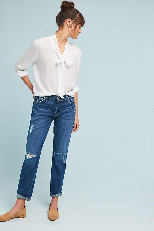 aaa8cc8a7433 7 For All Mankind Josefina Mid-Rise Slim Boyfriend Jeans