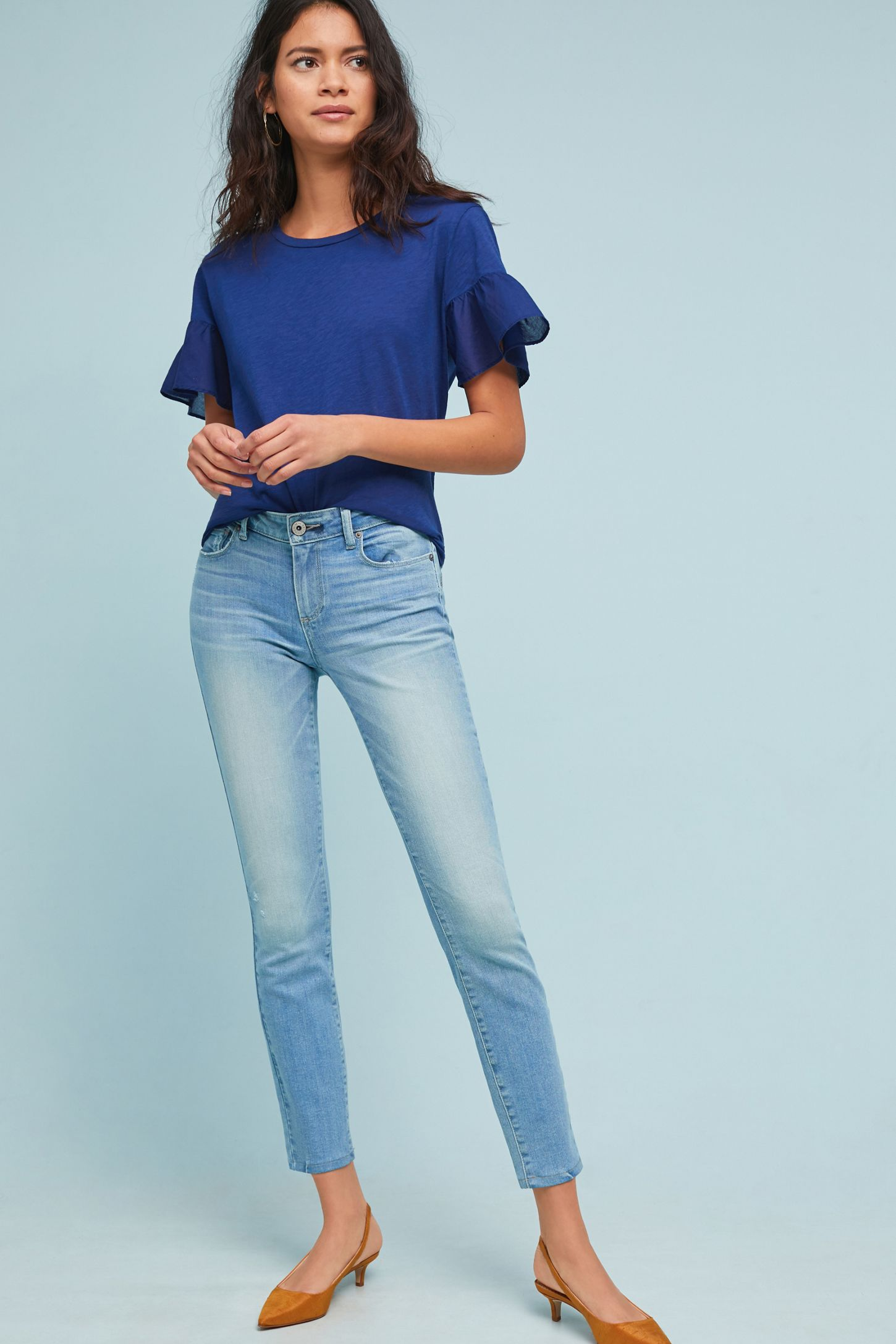e1f839b597 Paige Verdugo Low-Rise Skinny Ankle Jeans | Anthropologie