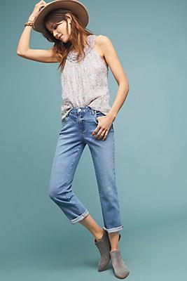 Slide View: 1: Paige Brigitte High-Rise Slim Boyfriend Jeans