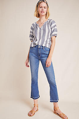 Slide View: 1: Paige Colette High-Rise Cropped Flare Jeans