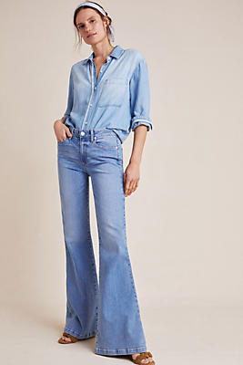 Slide View: 1: Paige Genevieve High-Rise Flare Jeans