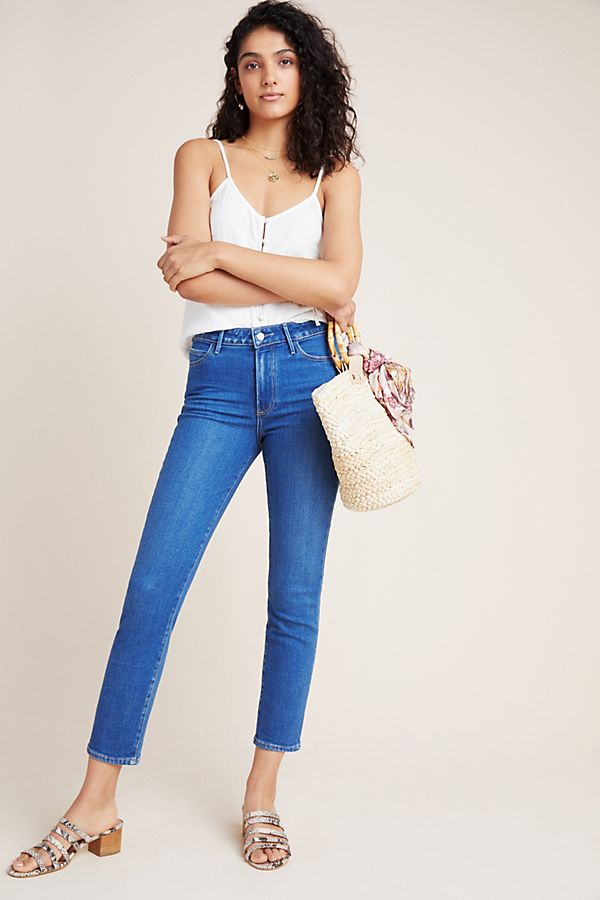 Slide View: 1: Paige Hoxton High-Rise Slim Jeans