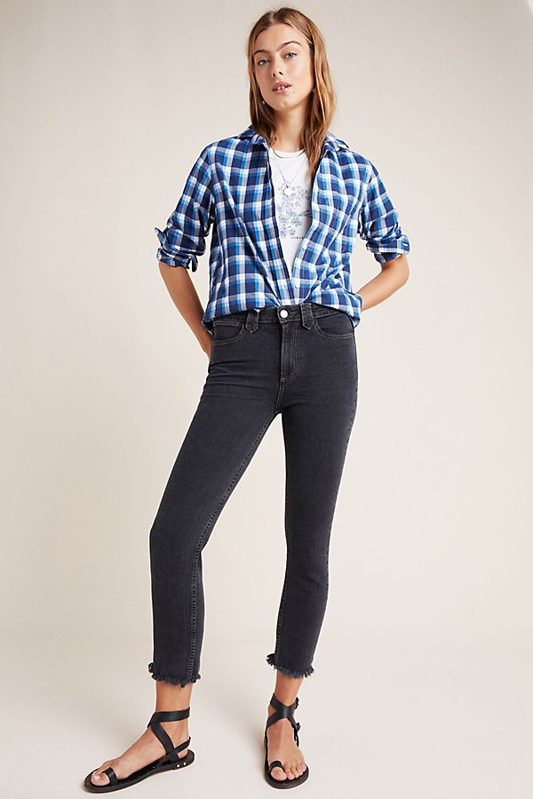 Slide View: 1: Paige Hoxton Mid-Rise Skinny Jeans