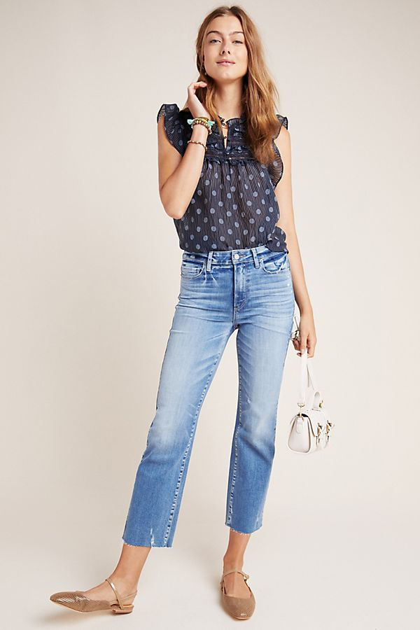 Slide View: 1: Paige Atley High-Rise Flare Jeans