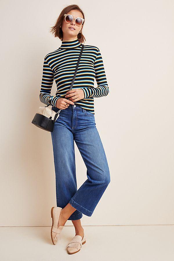 Slide View: 1: Paige Nellie High-Rise Culotte Jeans
