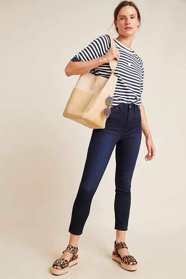 Slide View: 1: Paige Margot High-Rise Cropped Jeans