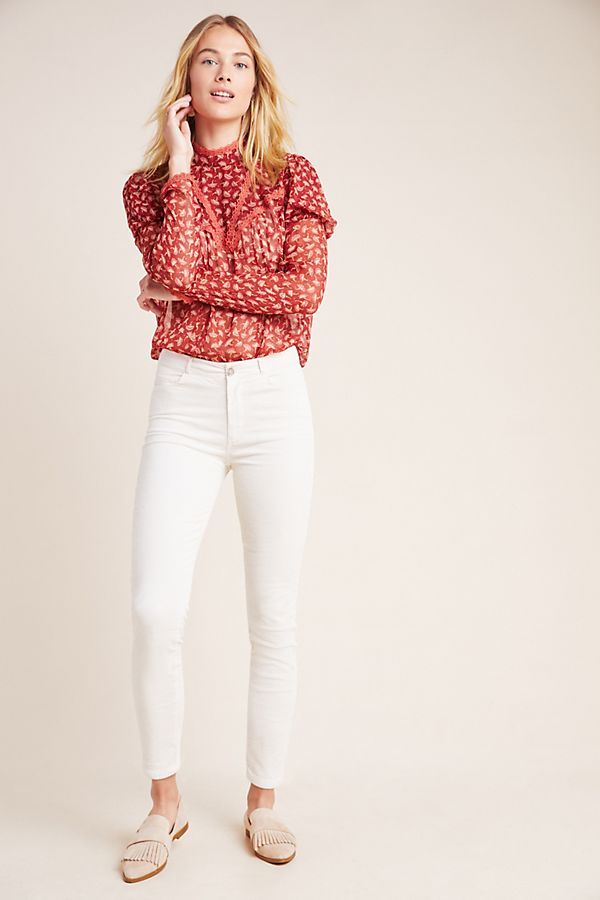 Slide View: 1: Paige Hoxton High-Rise Corduroy Skinny Jeans