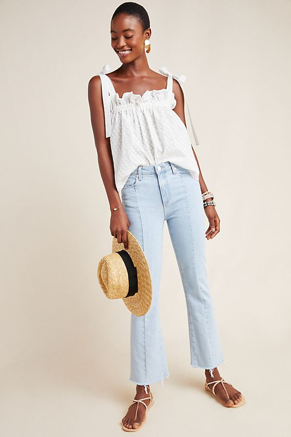 Slide View: 1: Paige Vintage Colette High-Rise Cropped Flare Jeans