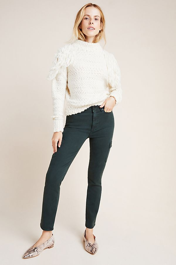 Slide View: 1: Paige Hoxton High-Rise Cargo Skinny Jeans