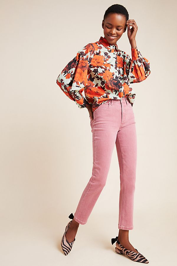 Slide View: 1: Paige Hoxton Ultra High-Rise Cropped Slim Jeans