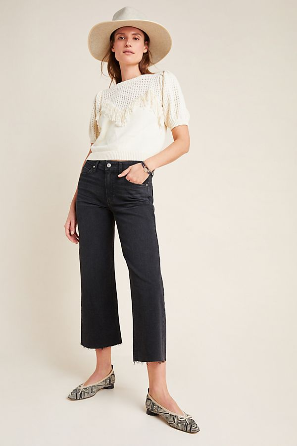 Slide View: 1: Paige Nellie Ultra High-Rise Culotte Jeans