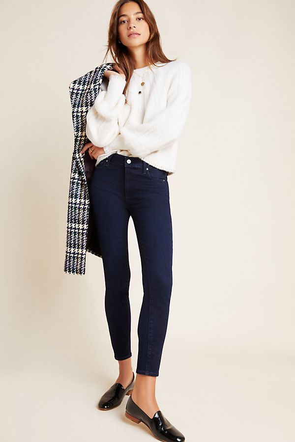 Slide View: 1: Paige Hoxton High-Rise Skinny Ankle Jeans