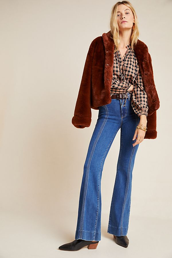 Slide View: 1: Paige Genevieve High-Rise Bootcut Jeans