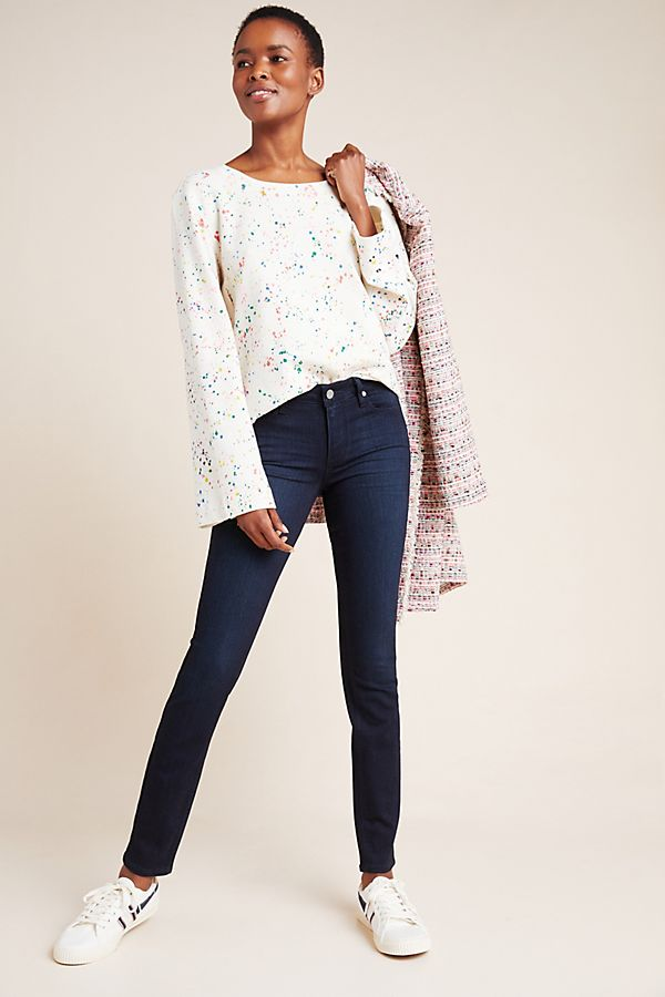 Slide View: 1: Paige Verdugo Mid-Rise Skinny Ankle Jeans