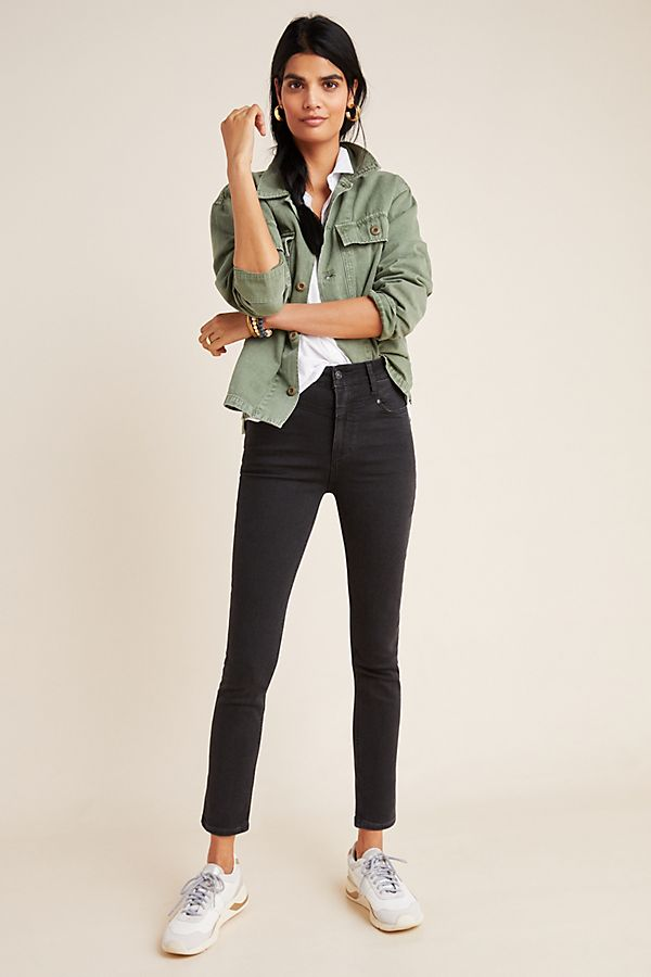 Slide View: 1: Paige Margot Ultra High-Rise Skinny Jeans