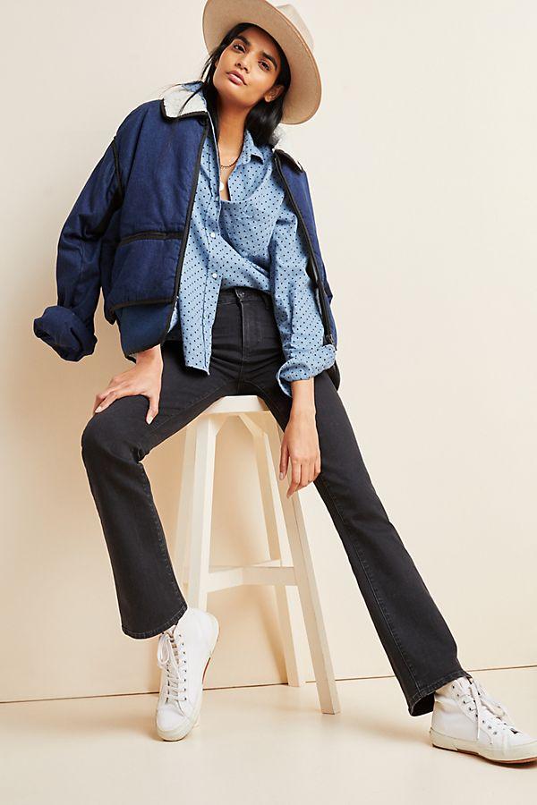 Slide View: 1: Paige Manhattan Mid-Rise Bootcut Jeans