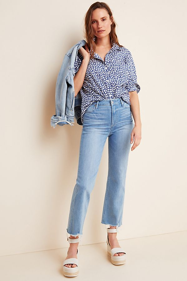 Slide View: 1: Paige Atley Ultra High-Rise Flare Jeans