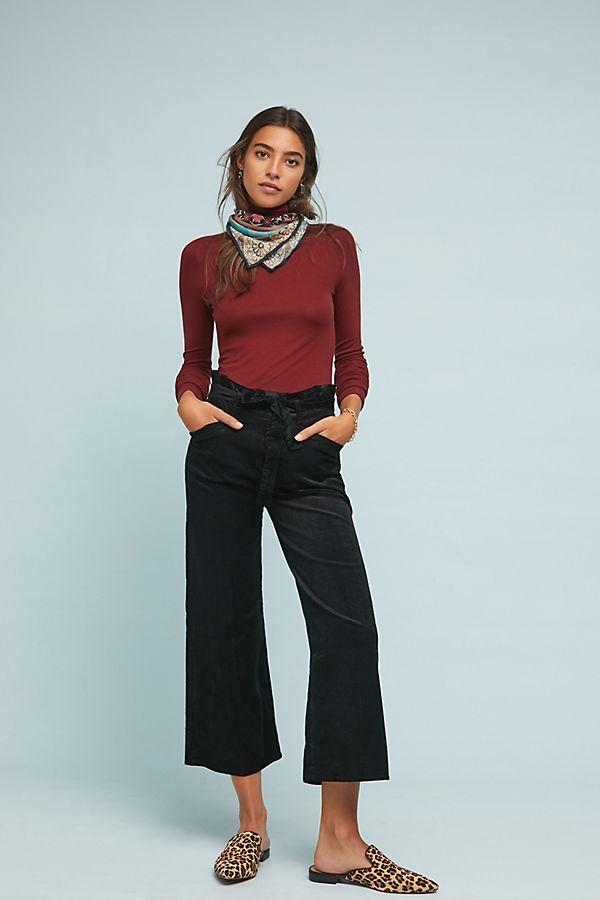 8202c195b4050 Slide View  1  Paige Sutton High-Rise Cropped Wide-Leg Jeans