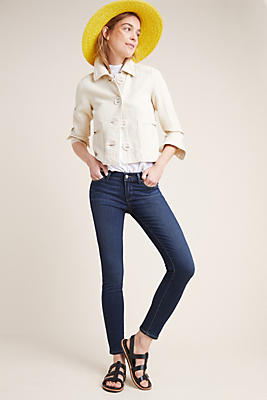 Slide View: 1: Paige Verdugo Mid-Rise Skinny Jeans