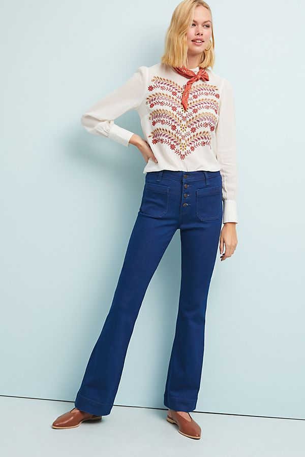 12c839df Wrangler Exaggerated High-Rise Bootcut Jeans | Anthropologie