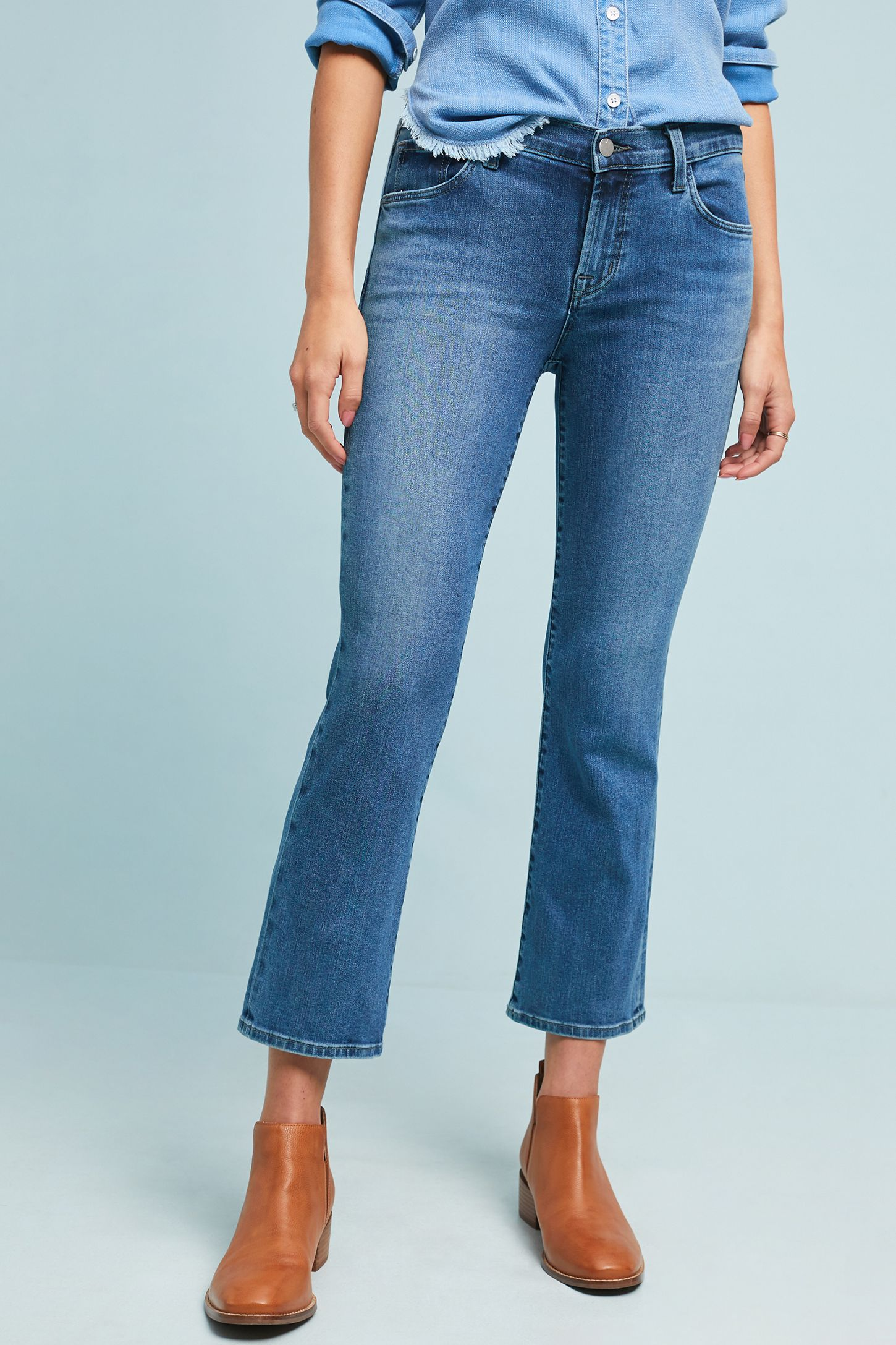 91dec16c58a3b Slide View  4  J Brand Selena Mid-Rise Cropped Bootcut Jeans
