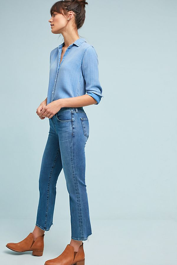 9adfbaf1 J Brand Selena Mid-Rise Cropped Bootcut Jeans | Anthropologie