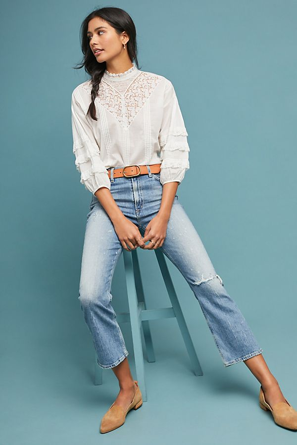 753c332dfb5bd8 Slide View: 1: Citizens of Humanity Demy Ultra High-Rise Cropped Flare Jeans