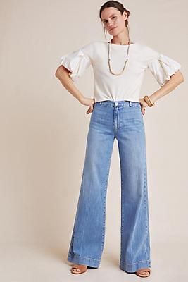 Slide View: 1: Paige Sutton High-Rise Wide-Leg Jeans