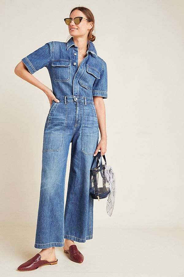 Slide View: 2: Citizens of Humanity Miki Denim Utility Jumpsuit