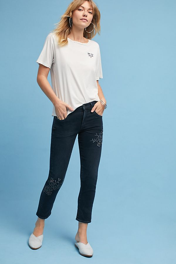 Citizens of Humanity Elsa Mid Rise Slim Cropped Jeans