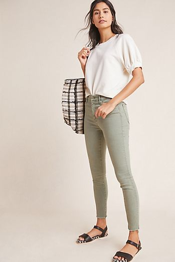 c83d96ab24de MOTHER The Looker High-Rise Ankle Fray Jeans