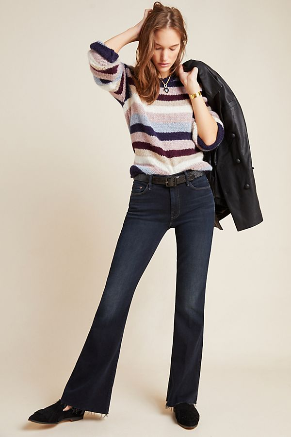 Slide View: 1: MOTHER The Weekender Mid-Rise Bootcut Jeans