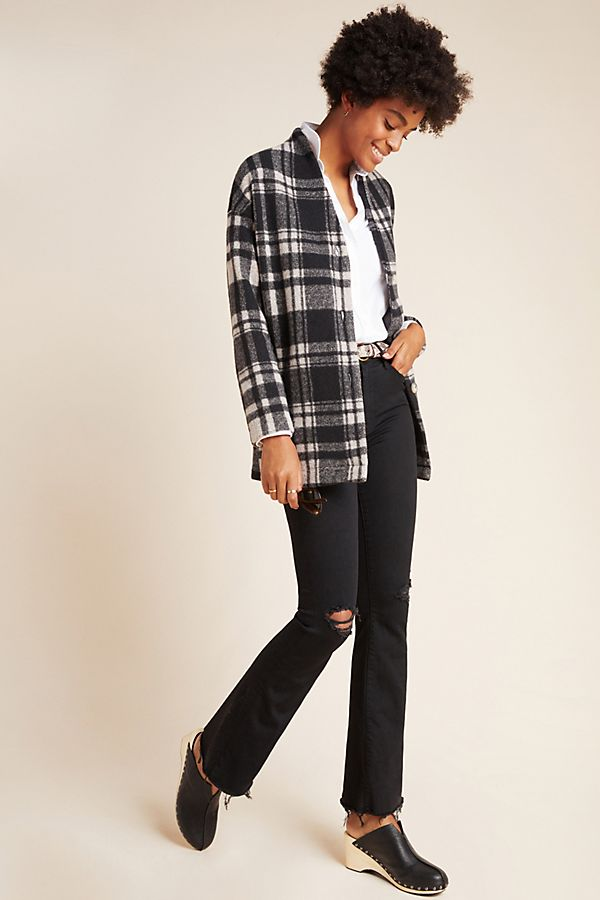 Slide View: 1: MOTHER The Weekender High-Rise Bootcut Jeans