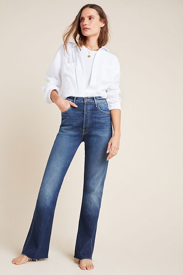 Slide View: 1: MOTHER The Tripper Weekender Ultra High-Rise Flare Jeans